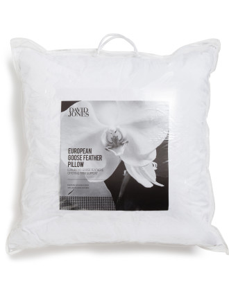 EUROPEAN GOOSE FEATHER PILLOW
