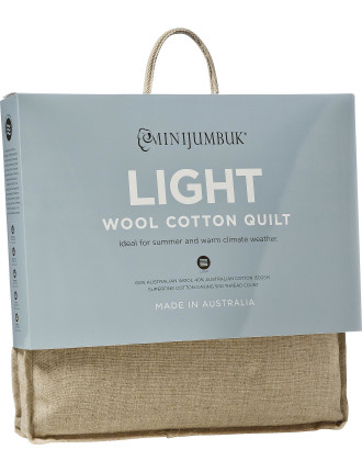 Ultralight Australian Wool/Cotton Quilt Single