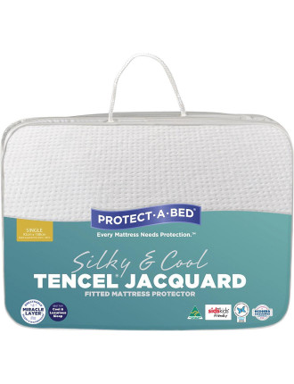 Tencel Jacquard Fitted Mattress Protector Single