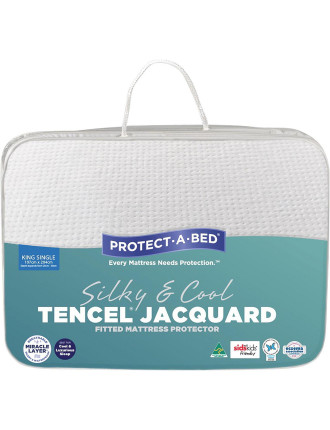 Tencel Jacquard Fitted Mattress Protector King Single