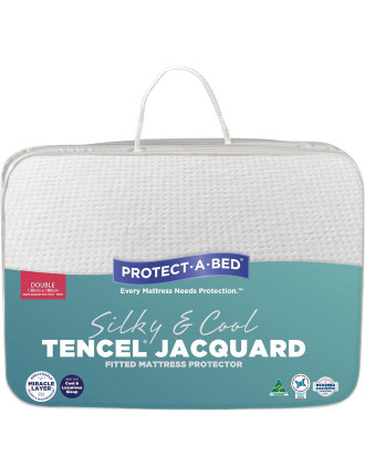 Tencel Jacquard Fitted Mattress Protector Double