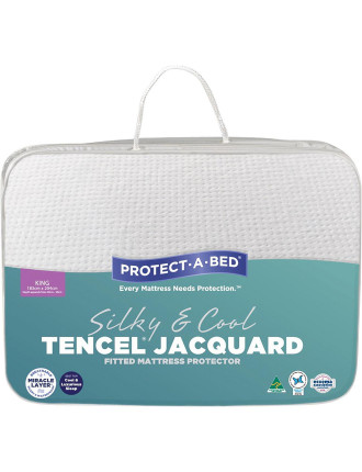 Tencel Jacquard Fitted Mattress Protector King