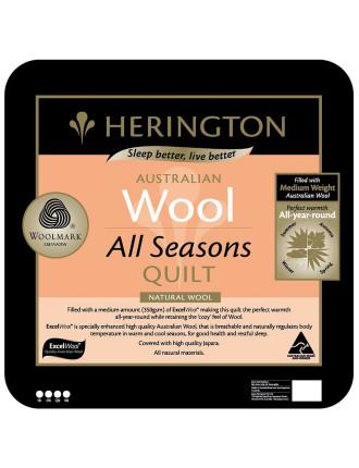 All Season Australian Wool Quilt Single