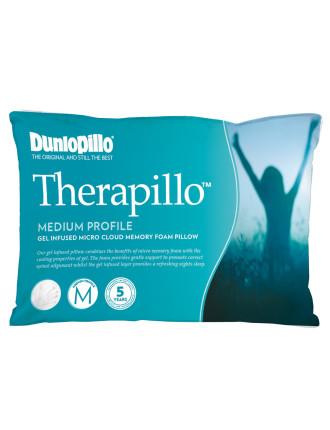 Therapillo Micro Cloud Gel Medium Proflie Memory Foam Pillow