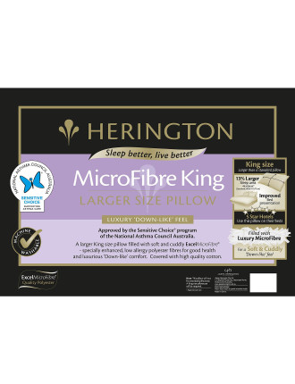 King Microfibre Pillow