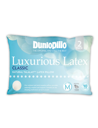 Luxurious Latex Classic Medium Pillow Twin Pack