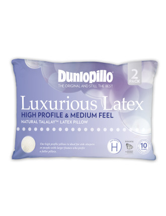 Luxurious Latex High Profile Pillow Twin Pack