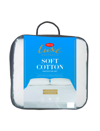 Luxe Soft Cotton Mattress Protector Single