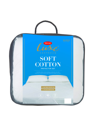 Luxe Soft Cotton Mattress Protector Double