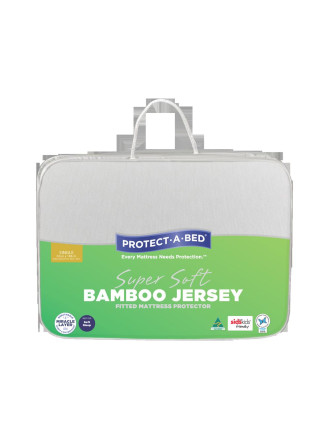 Bamboo Jersey Fitted Mattress Protector - Single