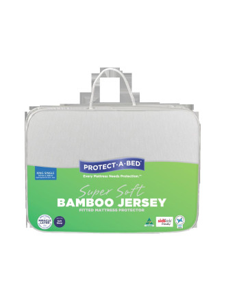 Bamboo Jersey Fitted Mattress Protector - King Single