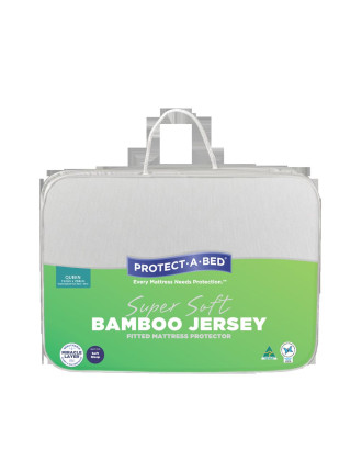 Bamboo Jersey Fitted Mattress Protector - Queen