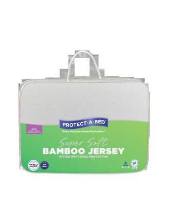 Bamboo Jersey Fitted Mattress Protector - King