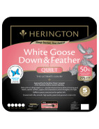 50% White Goose Down and Feather Queen Bed Quilt $384.30