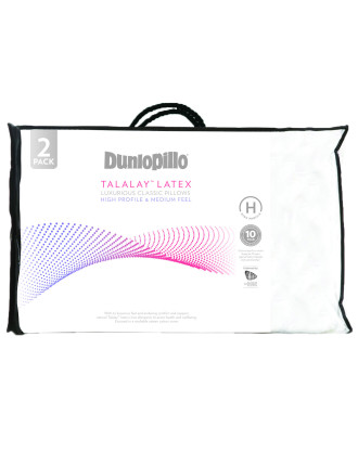 Dunlopillo High Profile Pillow Twin Pack