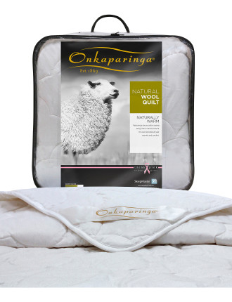 Natural Wool Double Bed Quilt