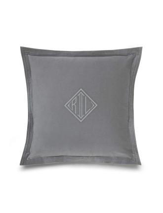 Rl Logo Velvet Cushion 50x50 W