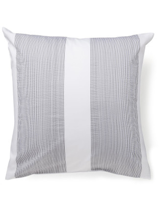 Pinstripe Charcoal European Pillowcase