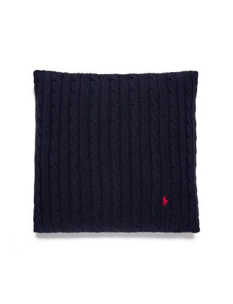 Cable Navy Cushion 45x45