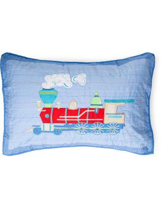 Trains Single Pillow Case