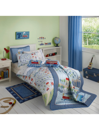 Trains Single Bed Quilt Cover Set