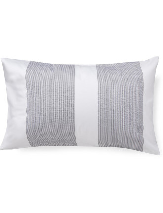 Pinstripe Charcoal Standard Pillowcase