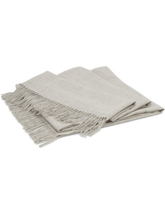 Triomphe Silver Baby Alpacca Throw