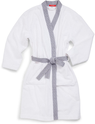 Cadence Gris Kimono Robe Large