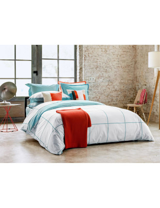 Cadence Turquoise Duvet Cover Queen
