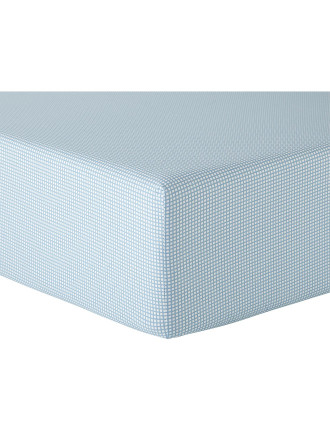 Cadence Turquoise Fitted Sheet Single