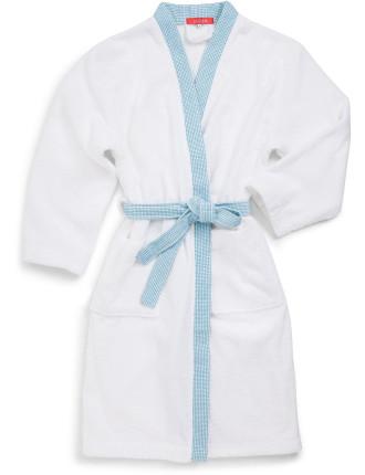 Cadence Turquoise Kimono Robe Large