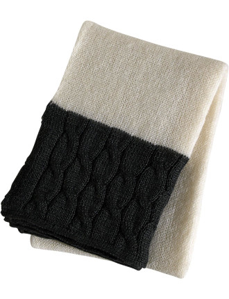 Mohair Gris Throw
