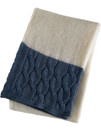 Mohair  Blue Throw