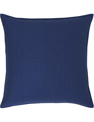 Louise Blue Quilted Cushion Cover