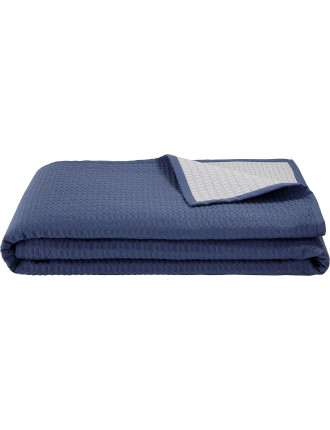 Louise Blue Quilted Bed Cover Queen