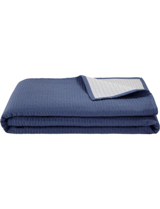 Louise Blue Quilted Bed Cover King