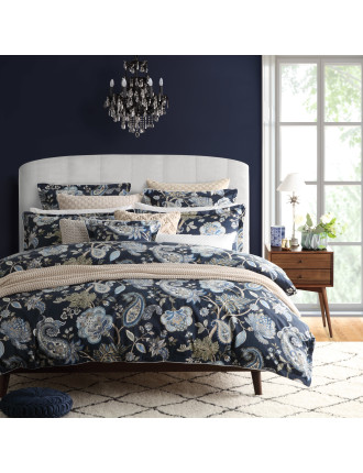 TOORAK NAVY EUROPEAN PILLOWCASE (EA)