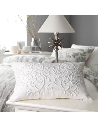 HASTINGS WHITE DECORATOR CUSHION