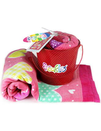 Valentine Beach Towel And Bucket