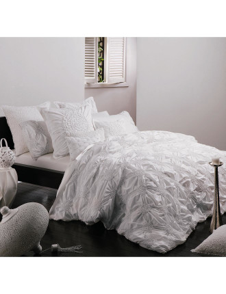 Tamsin White Quilt Cover Set Queen