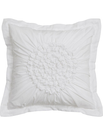 Tamsin White Square Cushion Filled