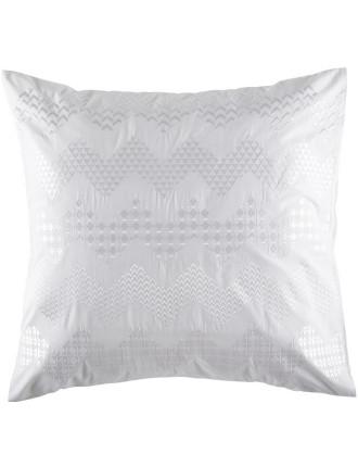 Zig Zag White Euro Pillowcase
