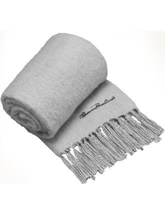 Faux Cashmere Fringed Throw