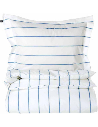 Summer Poplin Stripe Quilt Cover Queen