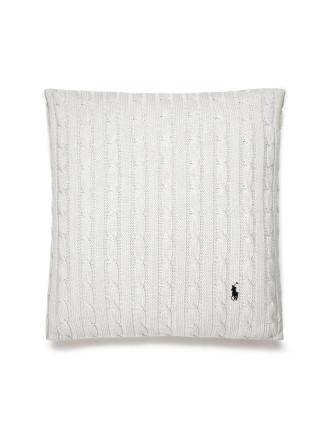 Cable White Cushion 45x45