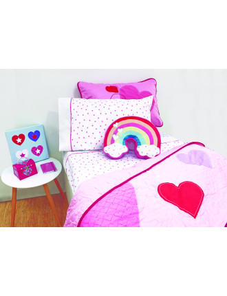 Hearts King Single Sheet Set