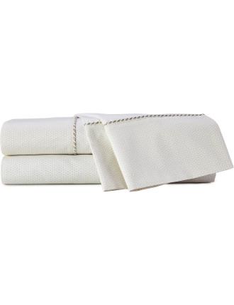 Richmond Cream Queen Bed Sheet Set