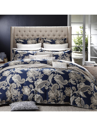 Alexandra Navy Quilt Cover Set King
