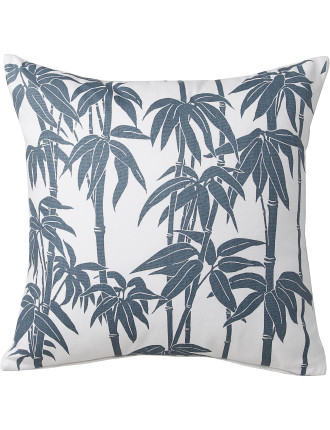 Bamboo Blue Square Cushion Filled