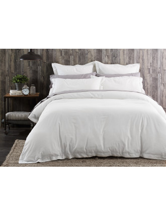 Heston White Quilt Cover Queen